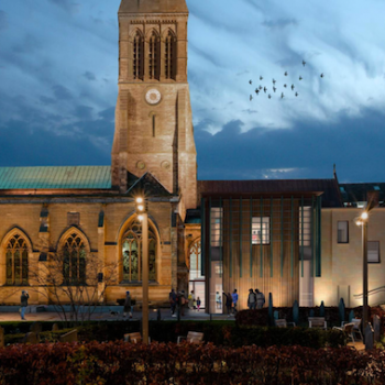 Leicester Cathedral heritage learning centre proposed CGI