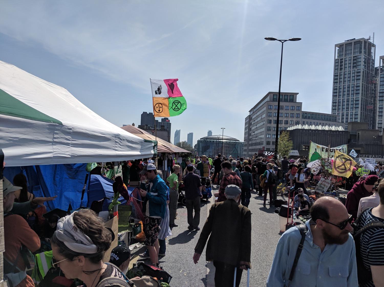 04 Etude at Extinction Rebellion protest Waterloo bridge climate emergency